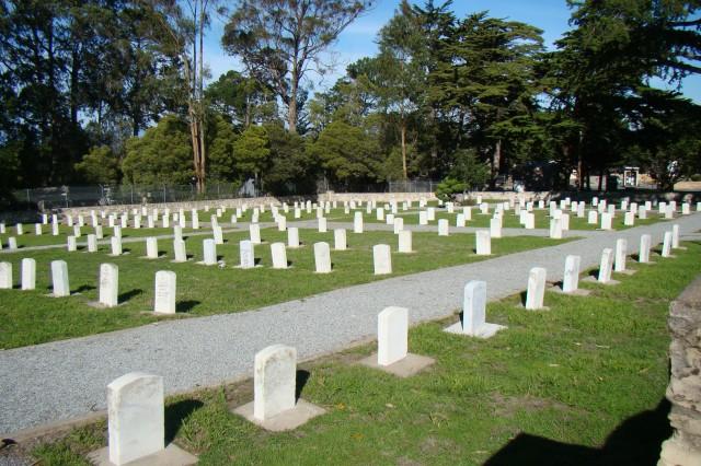 The Presidio of Monterey Cemetery dates back to 1904.