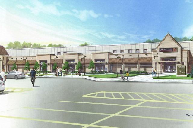 An artist rendering of the new commissary slated for Fort Campbell. The new commissary, which should be completed by June 2011, will have 63,134 square feet of sales area. That is almost 20,000 more square feet than the current building.