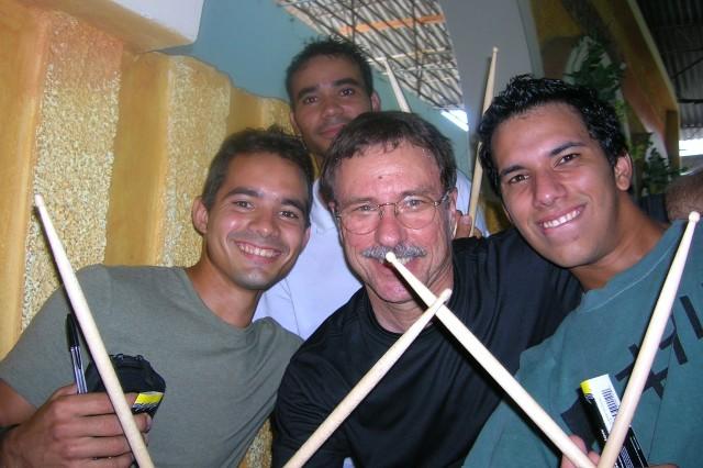 Gene and Cuban musicians