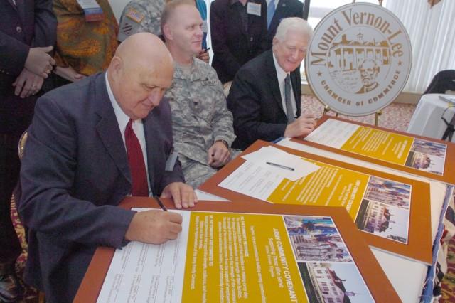 Belvoir, Mount Vernon-Lee sign Covenant