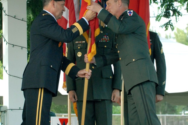 8th TSC Commanding General Pins on Second Star