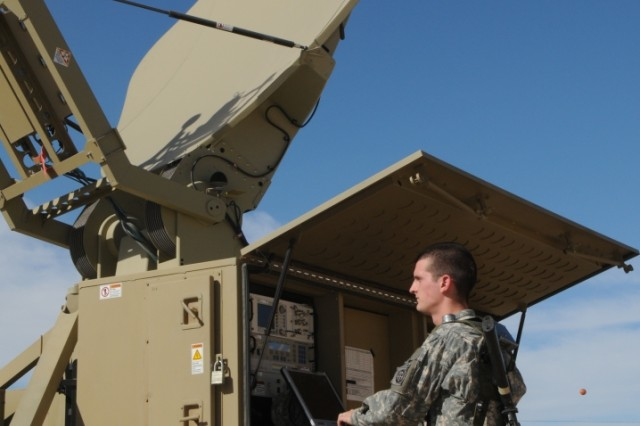A Soldier works with a Warfighter Information Network-Tactical (WIN-T) Increment One Satellite Transportable Terminal during a WIN-T Increment Two Engineering Field Test at Fort Huachuca, Ariz., in December 2008.