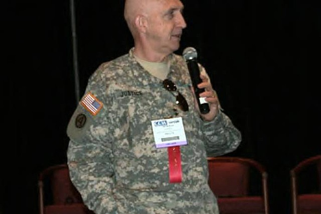 Maj. Gen. Nick Justice, formerly Program Executive Officer of Command, Control, Communications-Tactical, was the keynote speaker at the Satellite and Content Delivery Conference and Expo on Oct. 15 at the Jacob K. Javits Convention Center, New York, N.Y.