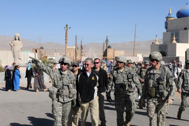 Secretary of the Army visits Medina Wasl