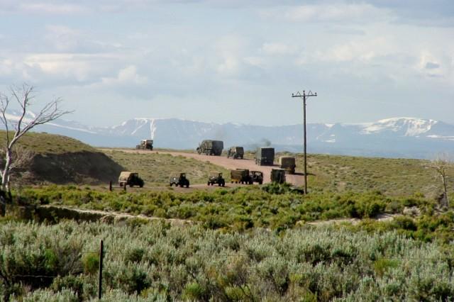 The convoy reaches the mountain states.