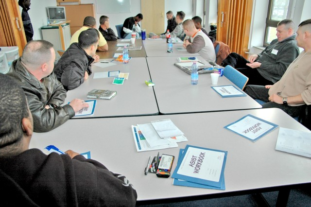 1st Armored Division Soldiers in the Applied Suicide Intervention Skills Training class will help to serve as gatekeepers in recognizing the signs associated with suicidal behavior.