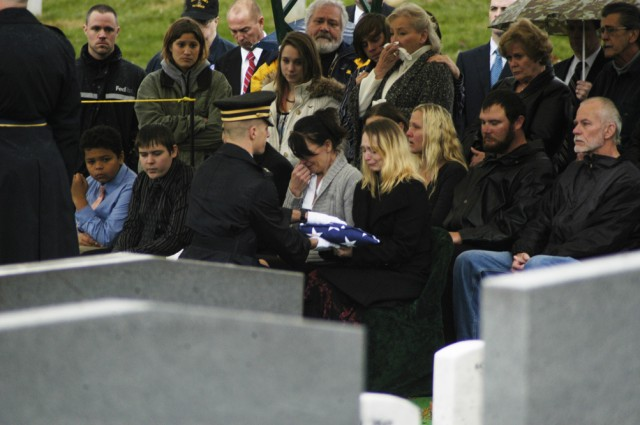 Flag for Medal of Honor recipient's family