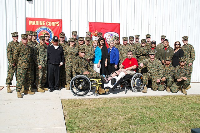 """More than 30 Marine wounded warriors, their Families and staff are proud to have a place they can call their own."""""""