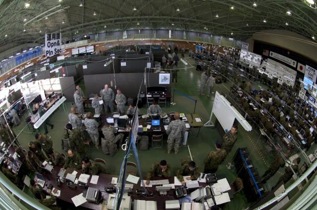 Yama Sakura 57 combined operations/intelligence center takes shape