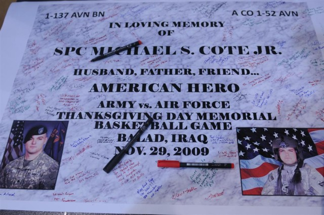 Memorial Basketball game held in honor of fallen Soldier