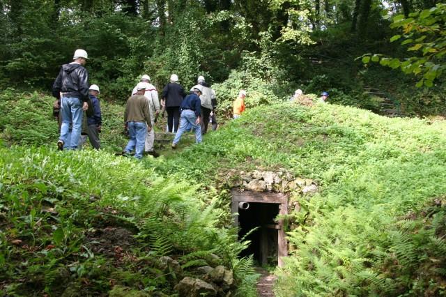 Moving past a tunnel entrance at Butte de Vauquois.