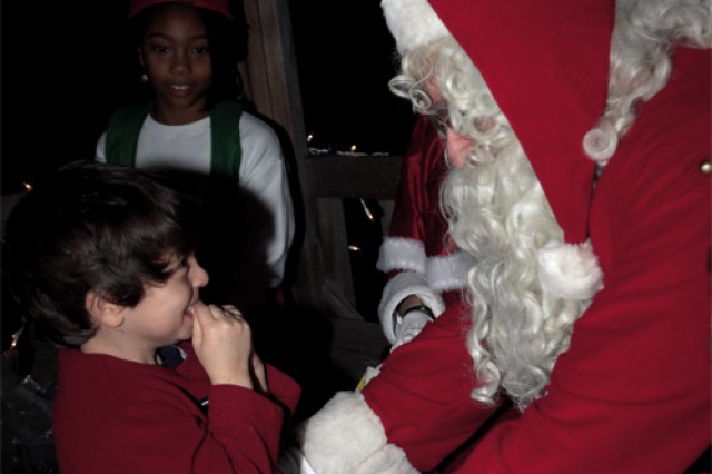 Fort Eustis shines during annual Holiday Tree Lighting Ceremony, visit from Santa
