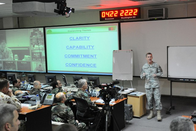 McChrystal addresses his staff