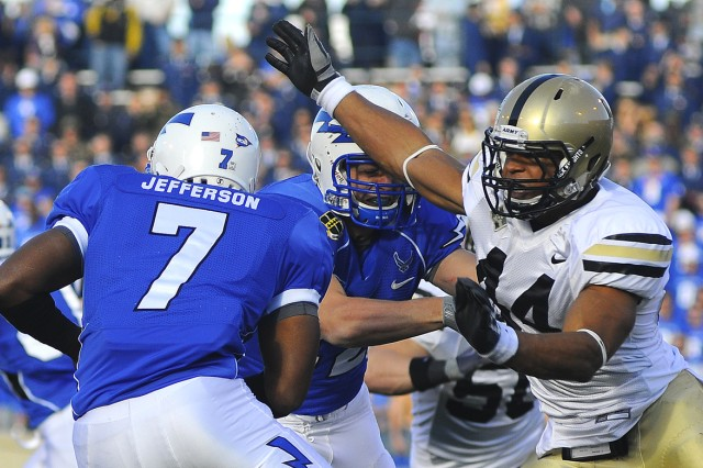 Junior defensive end Josh McNary is third in the NCAA with 12.5 sacks while adding 22.5 tackles for a loss. McNary benefits from the double-eagle flex defensive scheme that helped launch Chris Gocong and Tedy Bruschi's NFL careers.                                                         TOMMY GILLIGAN/PV