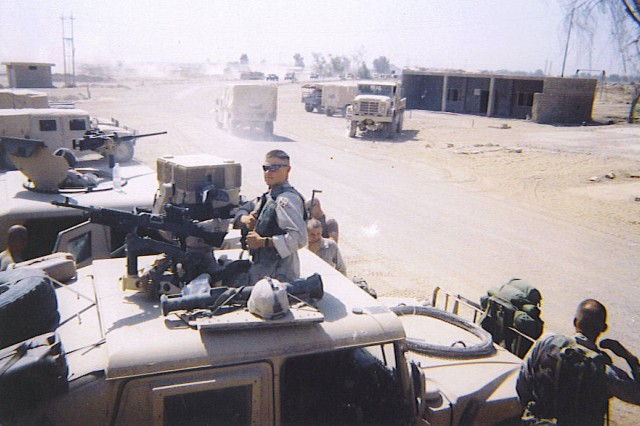 Senior Matt Coulthard, then a private first class with the 4th Infantry Division, gets ready for a mission during Operation Iraqi Freedom I. Army head coach Rich Ellerson said Coulthard's enlisted service and presence in the program is not overlooked by the coaching staff or the other players.