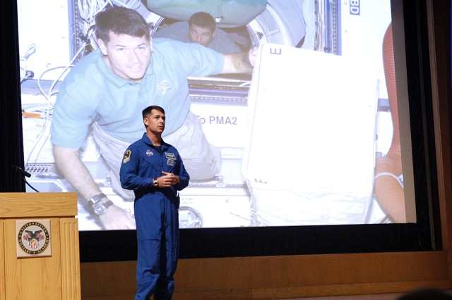 Astronaut tells cadets how math helped his career