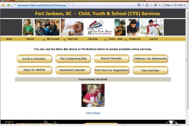 FMWR Web site a timesaver for parents
