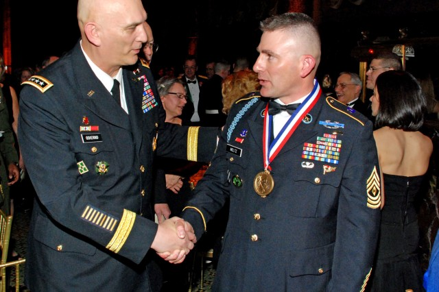 New York Army National Guard NCO Honored by USO Of Metropolitan New York