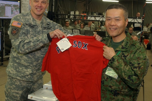 42nd Division Shares Lessons, Baseball Lore with Japanese Counterparts