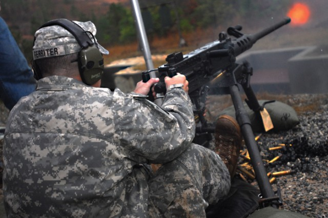 The Small Arms Branch of the Soldier Requirements Division put together the live-fire demonstration to familiarize Maj. Gen. Michael Ferriter, Fort Benning's commanding general, with weapons that represent nearly 60 percent of the Army's small-arms strategy.