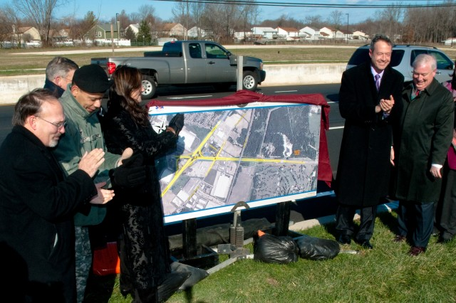 State officials unveiled a $42.6 million road project outside Aberdeen Proving Ground Dec. 11. The project is the first major infrastructure construction in anticipation of the thousands of new federal employees coming to the area under the Base Realignment and Closure, or BRAC.