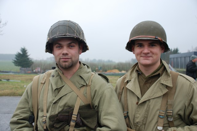 """We want to commemorate this 65th Anniversary of the battle and for us, history is a passion,"" said re-enactor Severain Incoul from Libramont, Belgium, with his friend Jonathan Ridolfi from Mons, Belgium. ""We are wearing a WWII uniform with the 87th Infantry Division insignia because this is our way to honor those men."" """