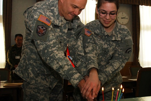 New York Army National Guard Soldiers in Japan Celebrate Guard Birthday