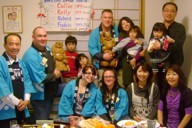 New York Army National Guard Soldiers Visit With Japanese Families