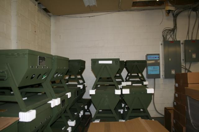 The Power Distribution Illumination Systems Electrical (PDISE) stored at the Fidelity Technologies Corporation plant in Reading, Pa. on  Nov. 23, 2009.