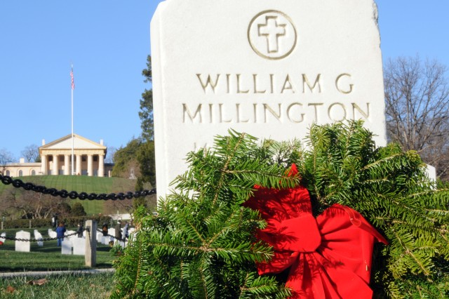 Thousands gathered Dec. 12, at Arlington National Cemetery to lay 15,000 wreaths against the headstones there.