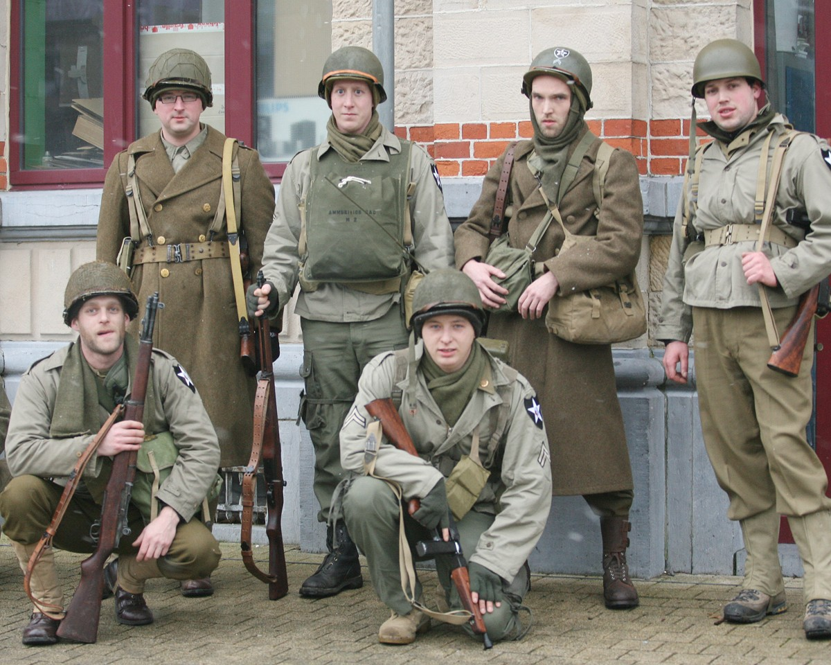 Us military communities participate in battle of the bulge original re enactors dressed in world war ii uniforms participate in the 22 kilometer march publicscrutiny Choice Image