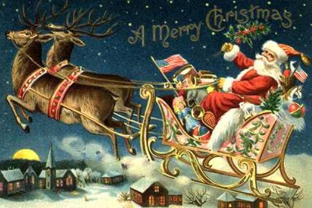 Santa Starts his Trip
