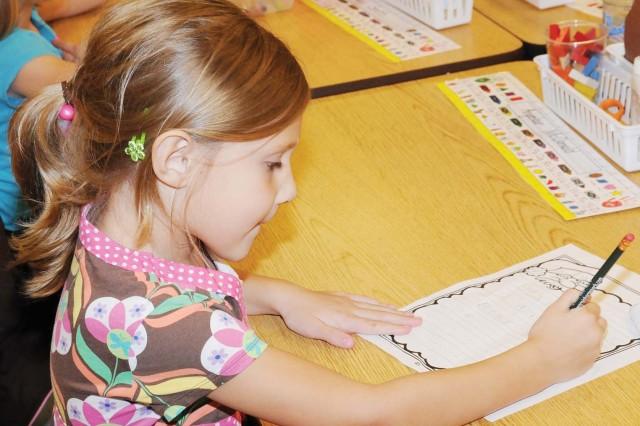 """Hailey Edwards, 5, kindergarten. """"I want a hair bow and a Barbie."""""""