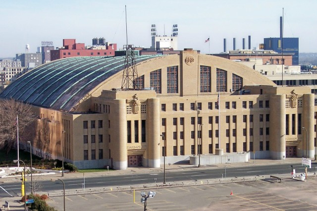 The New Deal/WPA armory built in downtown Minneapolis.
