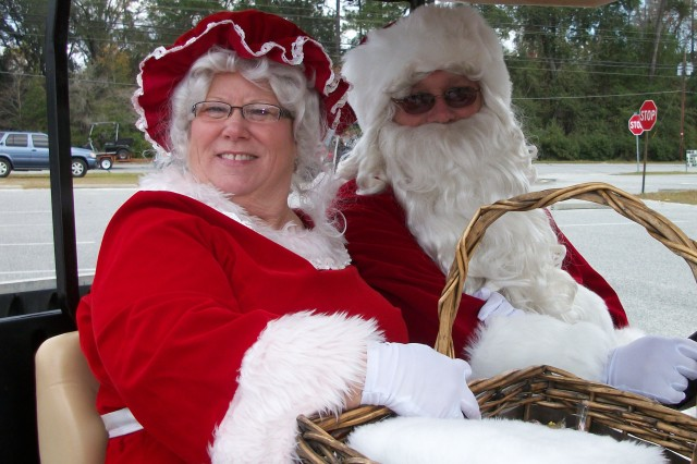 As Santa and Mrs. Claus, Debe and Earl Austin have been bringing smiles to children and adults in the Fort Stewart, Ga., area for more than 20 years.