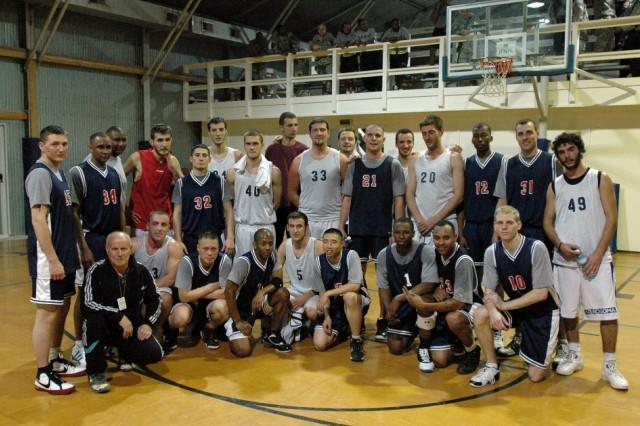 Basketball game brings KFOR, Kosovo players together