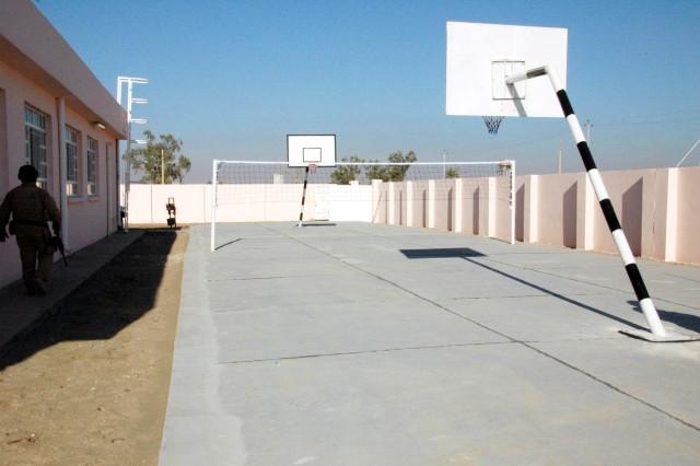 Al-Mazraa school playground