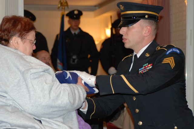 New York Military Forces Honor Guard Presents Flag to Next of Kin