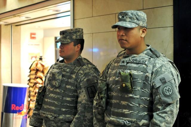 Guardsmen provide security Christmas Eve