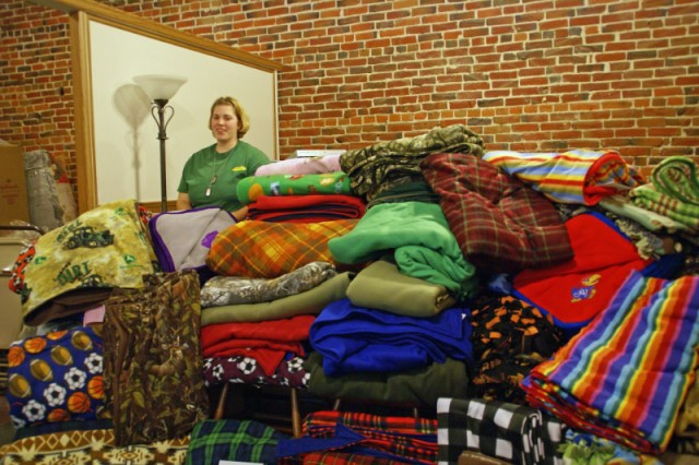 Army spouse, local community make blankets just in time for Christmas