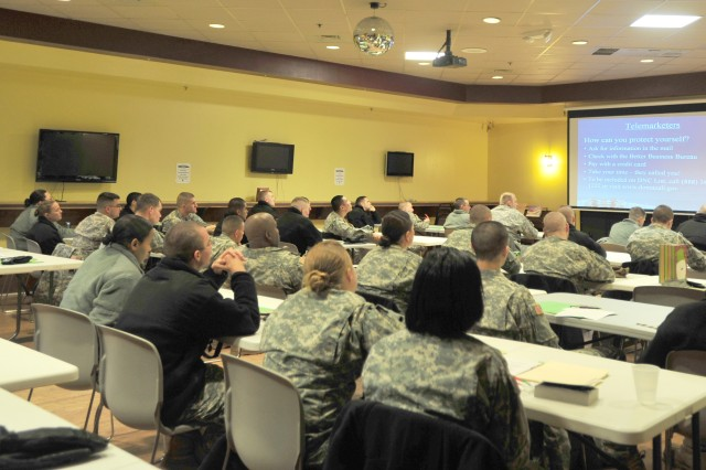 Soldiers learn how to protect themselves from scams