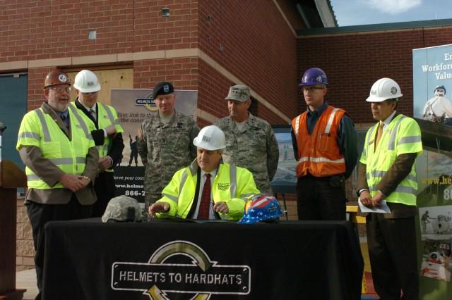 Ritter visits Fort Carson, addresses veterans assistance