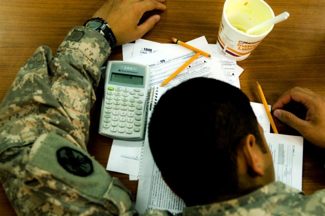 Volunteers will provide income tax preparation and filing assistance at a tax center at Joint Base Balad, Iraq, scheduled to open from February through April. Service members deployed to combat zones are not required to file taxes, but may choose to do so to receive their refunds or avoid filing two tax returns next year.