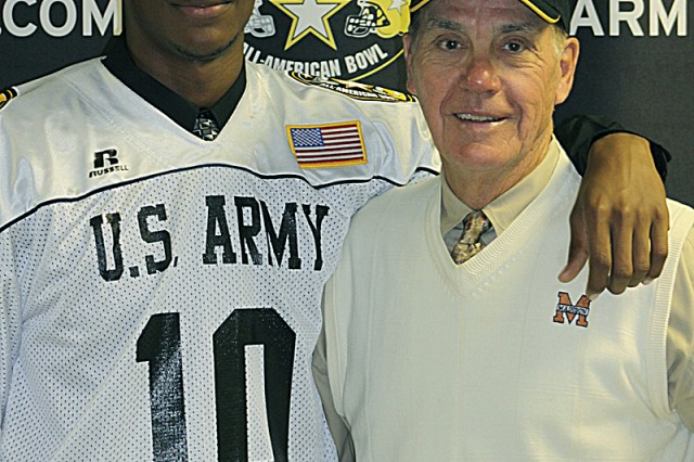 Madison High School wide receiver Nate Askew and Madison head coach Jim Streety make up the San Antonio connection at this year's U.S. Army All-American Bowl.  In three seasons, the 6-foot-4, 213-pound receiver had 25 receiving touchdowns and two scores on punt returns, gained 1,766 yards and averaged 18.7 yards per catch. He has made a verbal commitment to attend Texas A&M University in the fall of 2010. Streety recently celebrated his 300th career victory as a head coach, one of only 10 coaches in Texas history to achieve the milestone.
