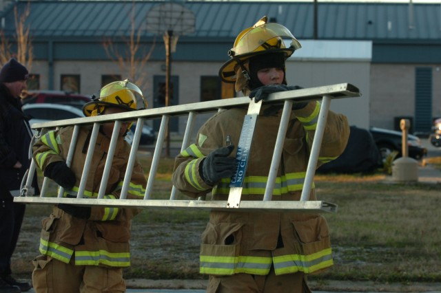 Youngsters learn basics of firefighting from the pros