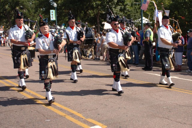 COLORADO SPRINGS, Colo. -  Shriners of the El Jebel Shrine, from Denver, show their support for the armed forces during the Red, White and Brave Parade Aug. 29 in downtown Colorado Springs. Local organizations got into the spirit of the event, contributing financially or more noticeably by marching along side the servicemembers of Colorado Springs.