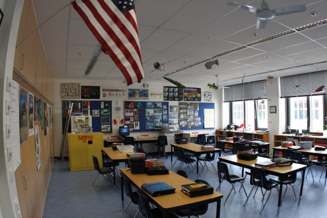 At a ribbon-cutting ceremony April 25, 2008, the U.S. Army Corps of Engineers Europe District celebrated with DoDDS Europe officials and students the completion of a $7.5 million addition to the elementary and middle school located in Landstuhl, Germany. In the coming years the number of school construction will increase dramatically.