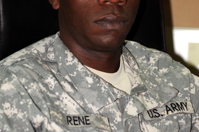 Sgt. Stanly Rene, noncommissioned officer in charge of the 1st Armored Division chemical section, has family in Port-au-Prince, Haiti, near the epicenter of the massive earthquake that struck Jan. 12.