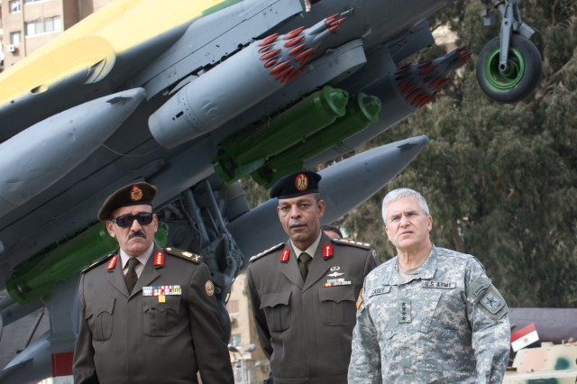 Gen. George W. Casey Jr., Chief of Staff of the US Army, is given a tour of the Egyptian Panorama War Museum in  Cairo, Egypt, Jan. 21, 2010.  While in Egypt Casey met with senior military leadership, toured various military facilities and visited American Soldiers.