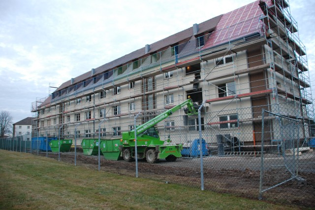 STUTTGART, Germany - More than $100 million has been spent on Robinson Barracks  Family Housing renovations, which include amenities such as wall-to-wall carpeting, master bedroom walk-in closets and laundry facilities in each apartment.